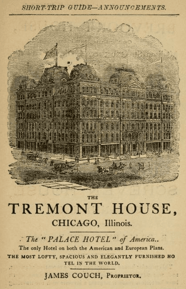 Tremont House Advertisement